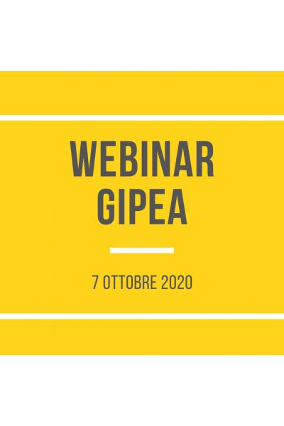 Webinar GIPEA ottobre 2020